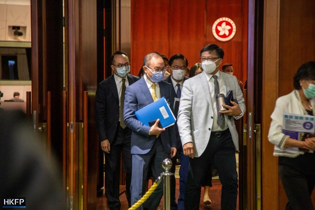 Erick Tsang oath-taking Junius Ho