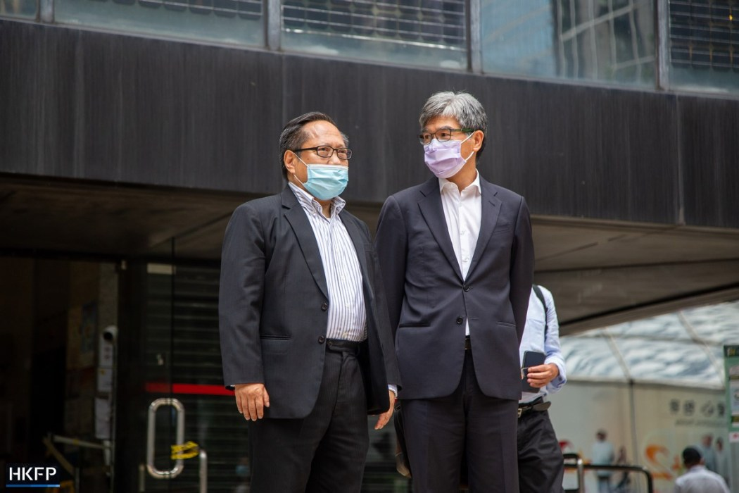 October 1 unauthorised assembly trial Albert Ho Sin Chung-kai