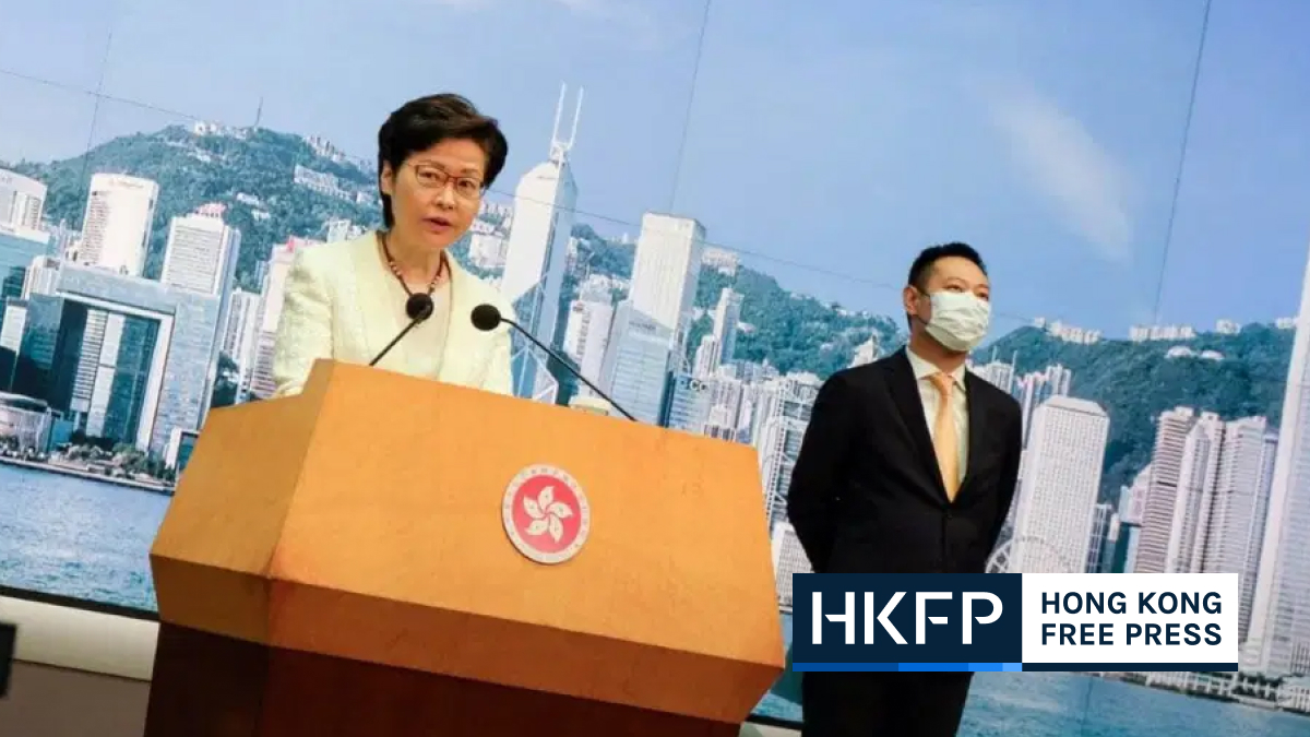 Hong Kong leader attacks foreign media over coverage of 'so-called peaceful' protests