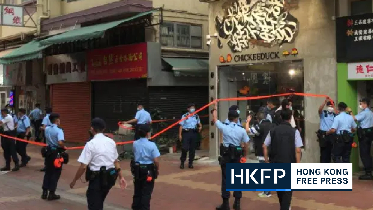 Security law: Hong Kong police cordon off pro-democracy clothing store two days after opening
