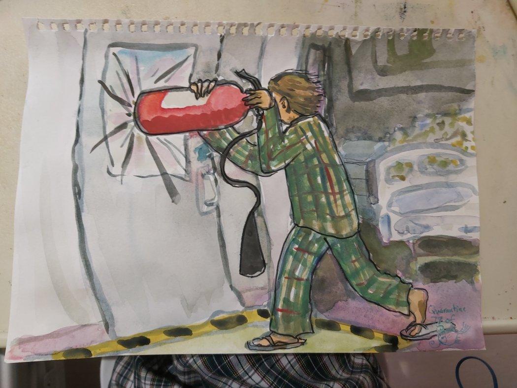 covid patient hospital quarantine art 7