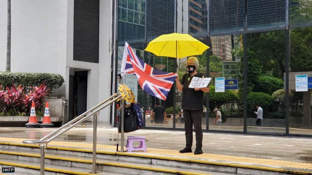 A protest regular Grandma Wong was seen at the District Court on Monday May 24, 2020.