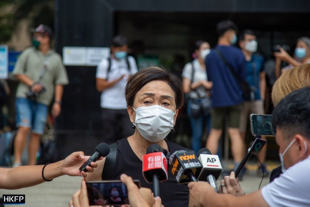 October 1 unauthorised assembly trial Emily Lau