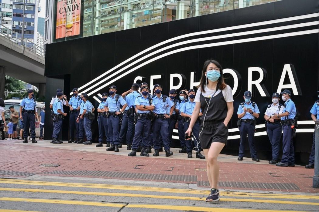 June 4, 2021 Causeway Bay police