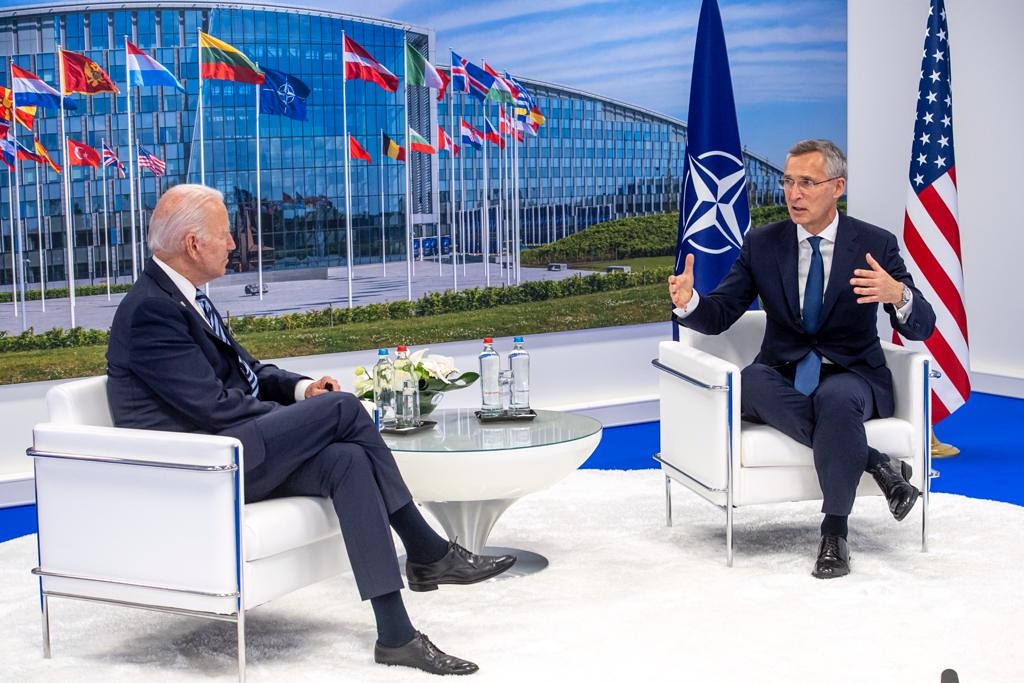 Bilateral meeting between NATO Secretary General Jens Stoltenberg and the President of the United States, Joe Biden