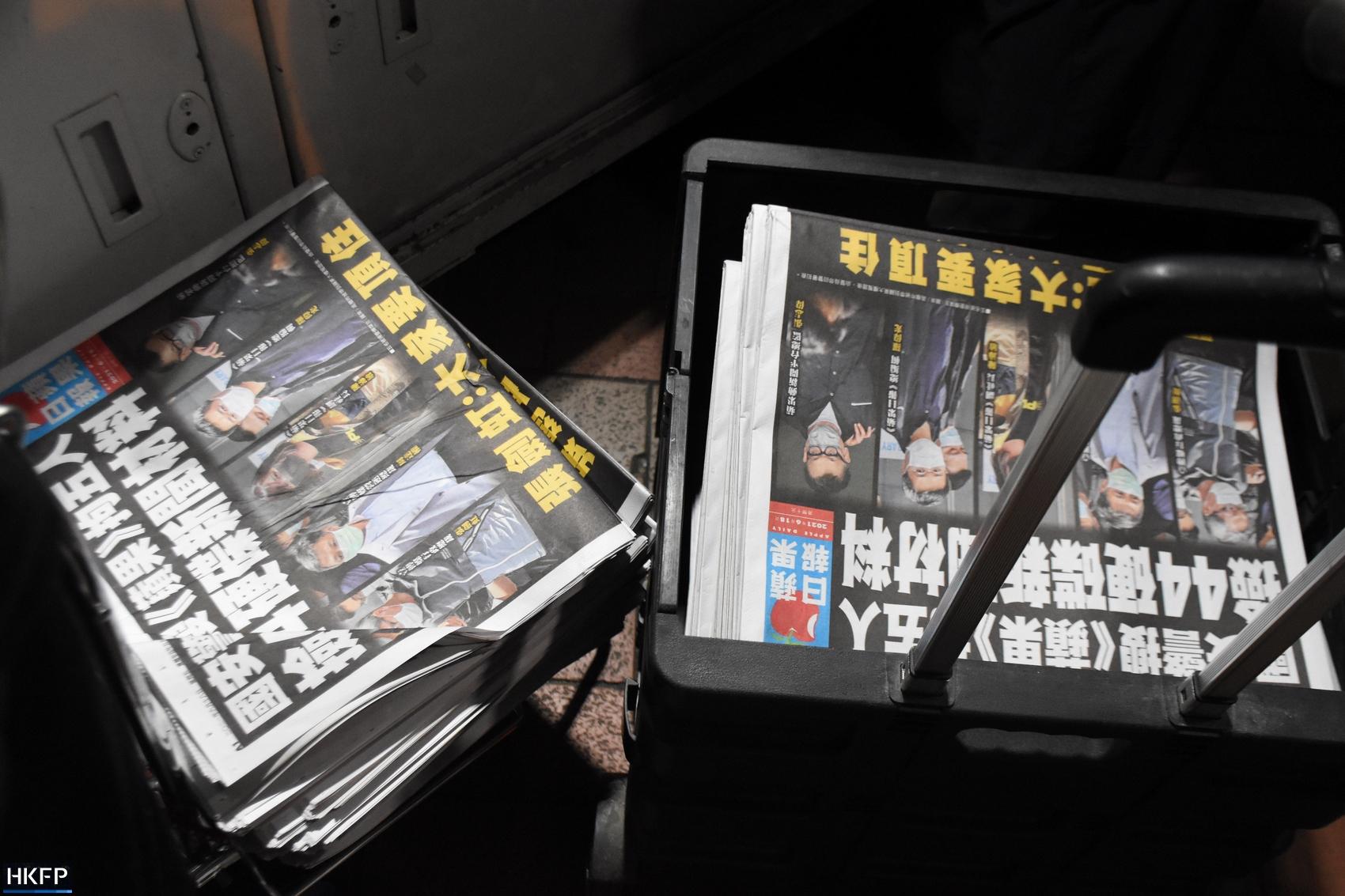 Apple Daily Mong Kok news stand
