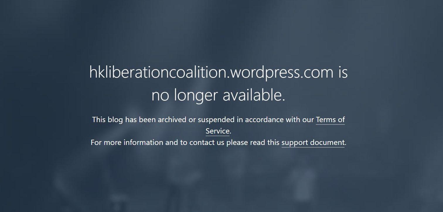 hong kong liberation coalition website hklc