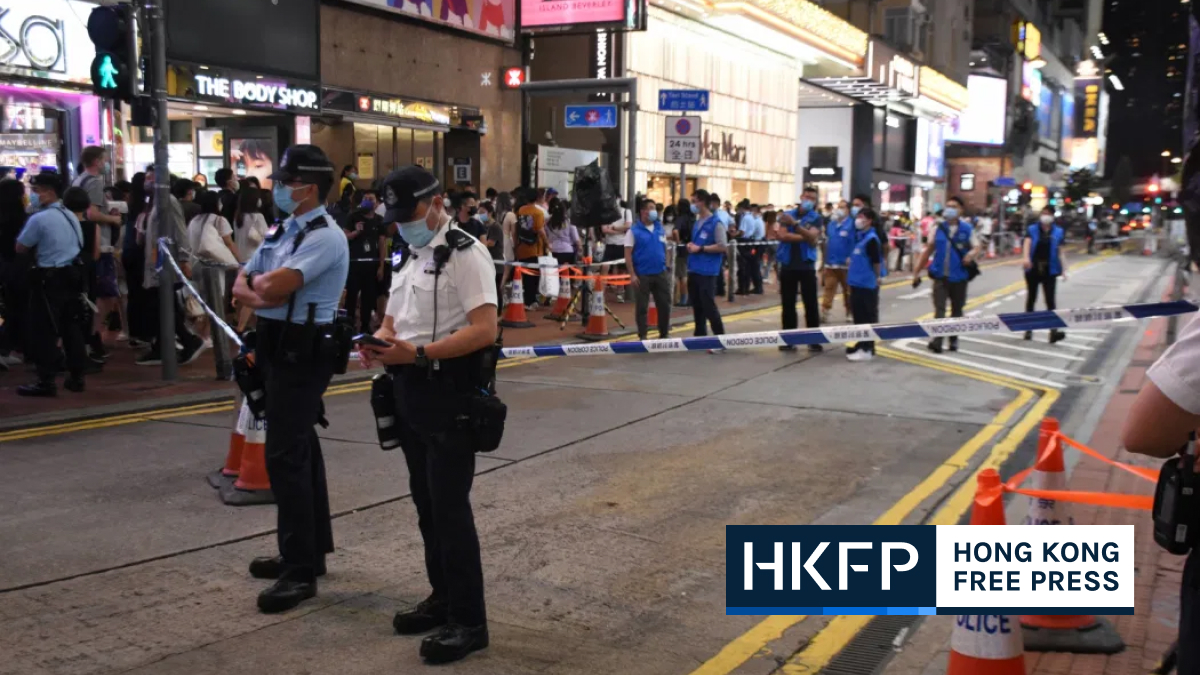 june 12 second anniversary- heavy police presence in causeway bay and mong kok