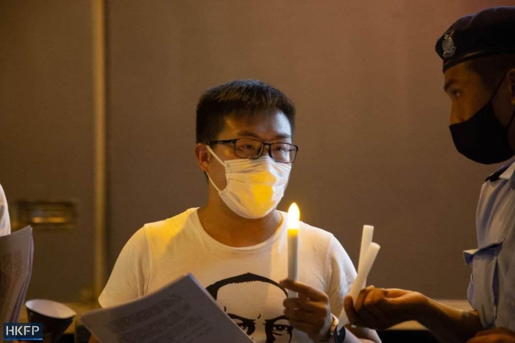 Raphael Wong June 4 Tiananmen Square Massacre Victoria Park 2021 candle