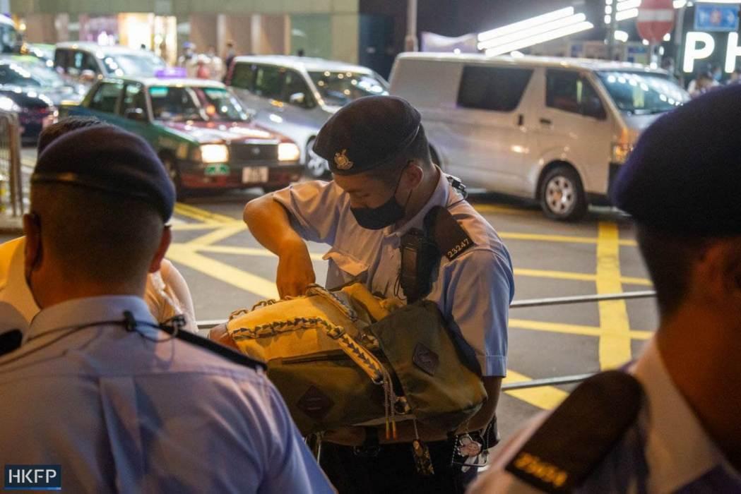 police June 4 Tiananmen Square Massacre Victoria Park 2021