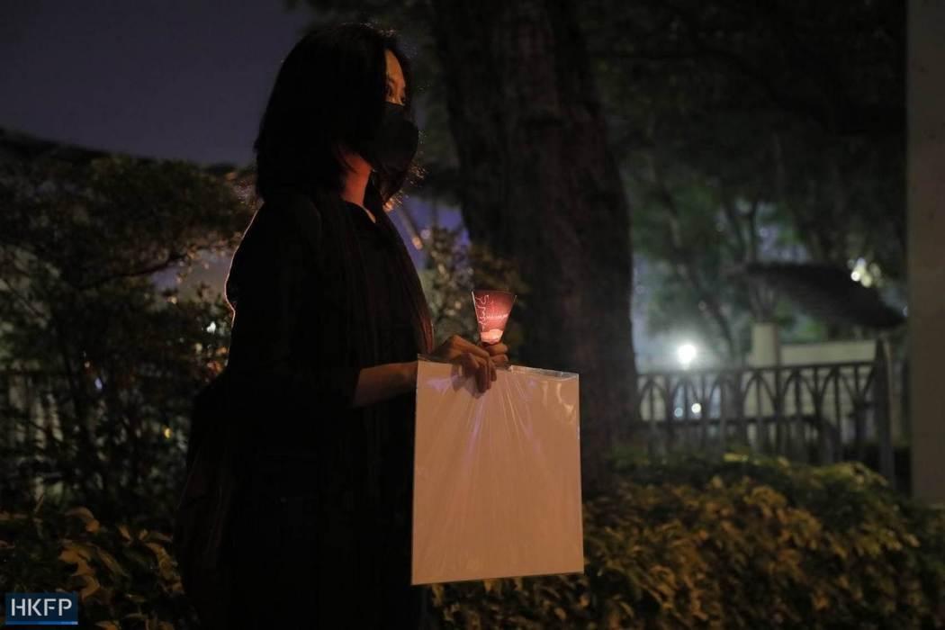 June 4 Tiananmen Square Massacre Victoria Park 2021 candle blank protest