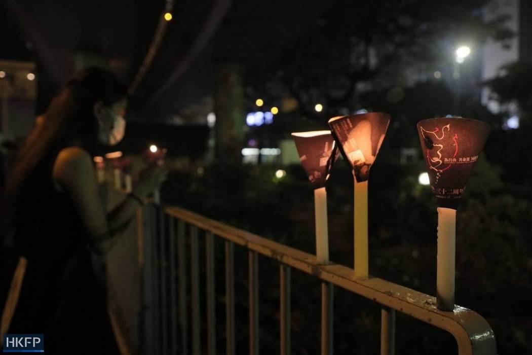 June 4 Tiananmen Square Massacre Victoria Park 2021 candles