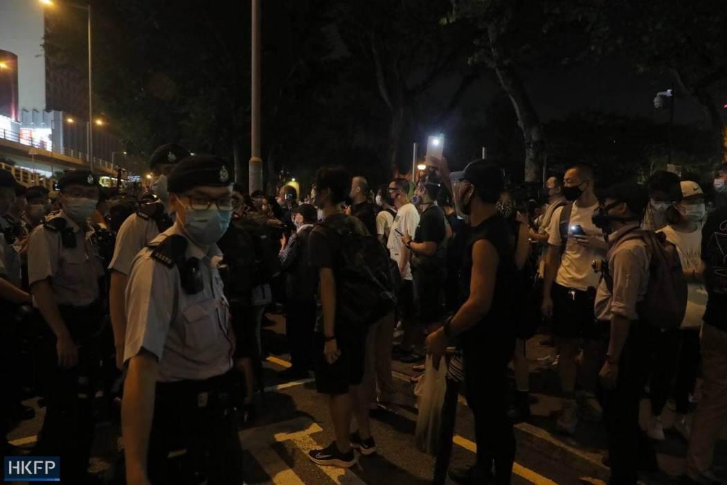 June 4 Tiananmen Square Massacre Victoria Park 2021 police flashlight