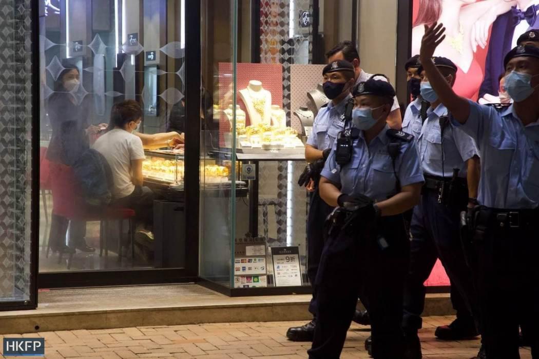 June 4 Tiananmen Square Massacre Victoria Park 2021 police