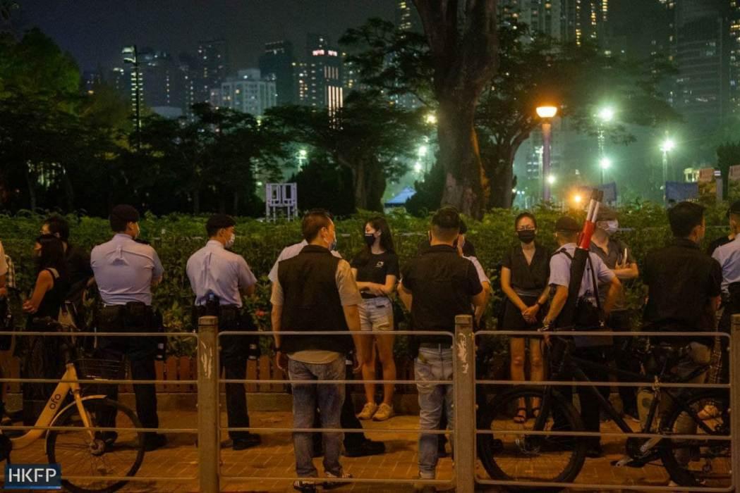 June 4 Tiananmen Square Massacre Victoria Park 2021 police cordon