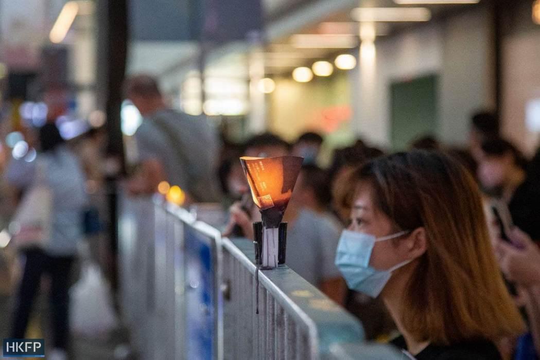 June 4 Tiananmen Square Massacre Victoria Park 2021 candle