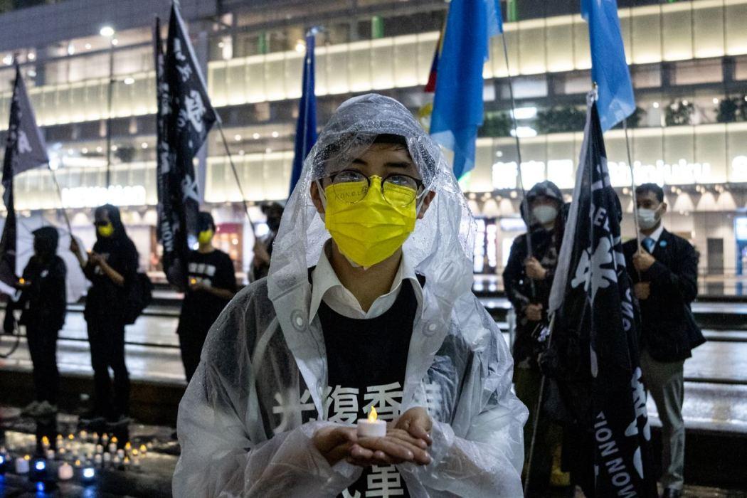 yellow mask shinjuku June 4 Tiananmen Square 2021