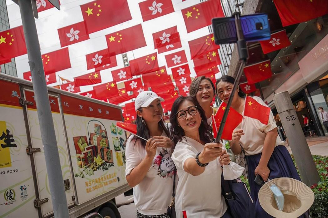 July 1 handover China Hong Kong flag