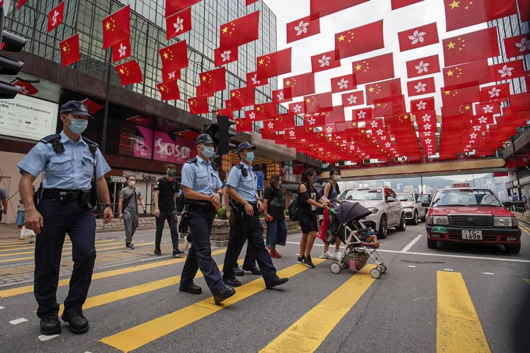 July 1 handover China Hong Kong flag police