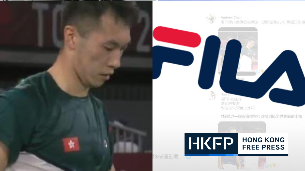 Internet backlash against Fila sportswear after Hong Kong badminton player seen drenched in sweat