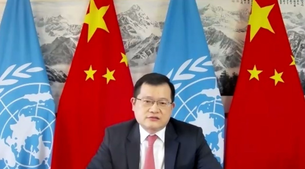 Chinese permanent missions' counsellor on the UNHRC, Jiang Yingfeng.