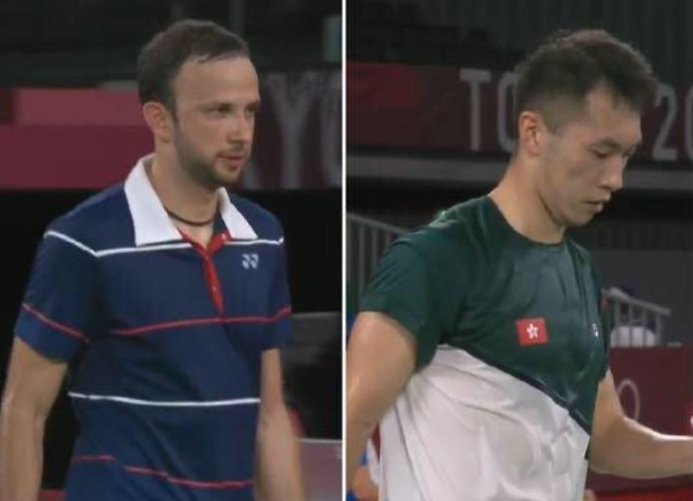 Badminton players Angus Ng and Kevin Cordon. Photo: Internet.