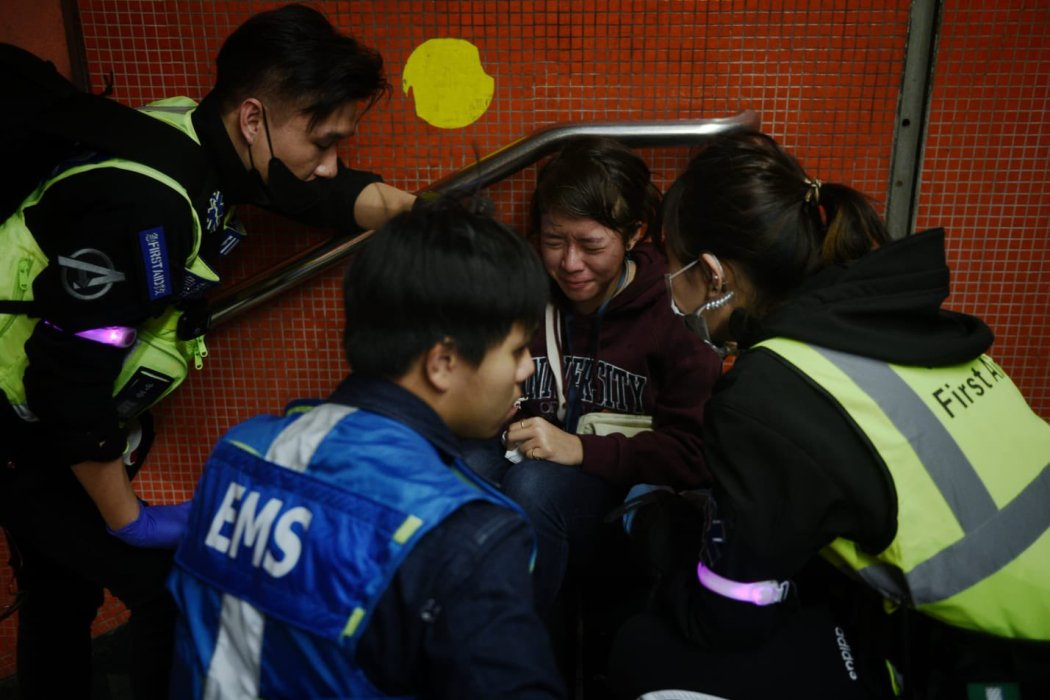 jasmine leung journalist pepper sprayed protest press freedom