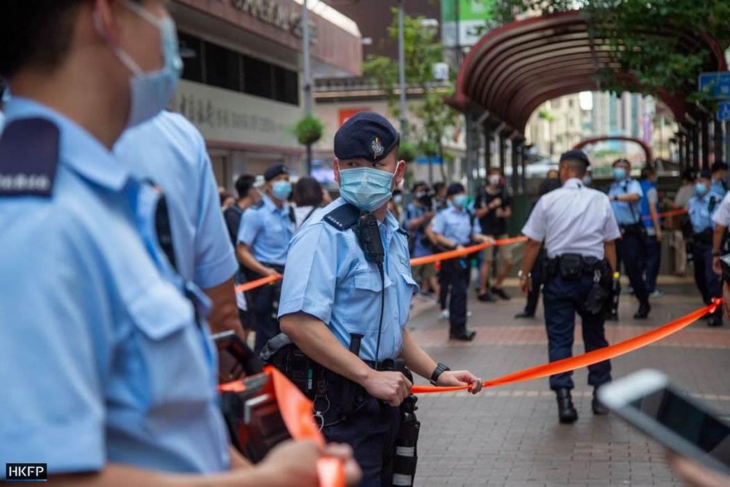 police cordon mong kok soy street july 1 2021