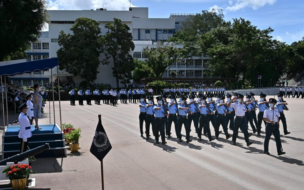 police college academy passing-out parade