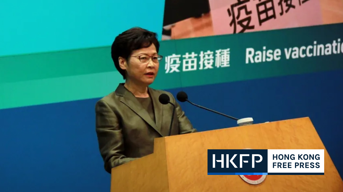 Carrie Lam vaccination rate featured pic