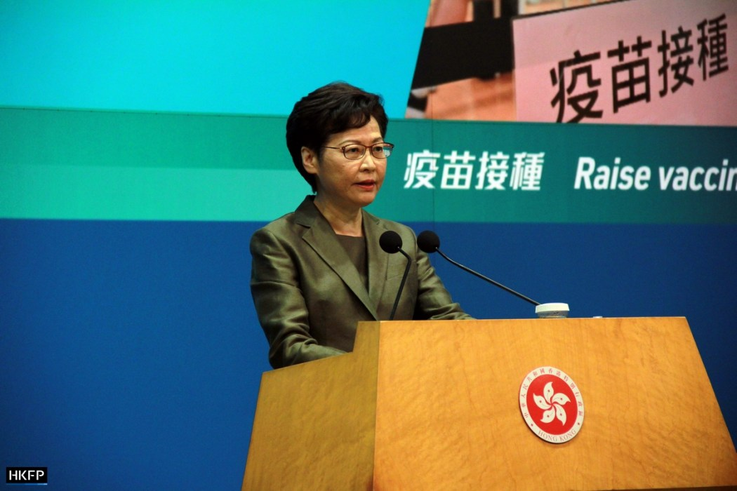 Carrie Lam Covid-19 vaccine