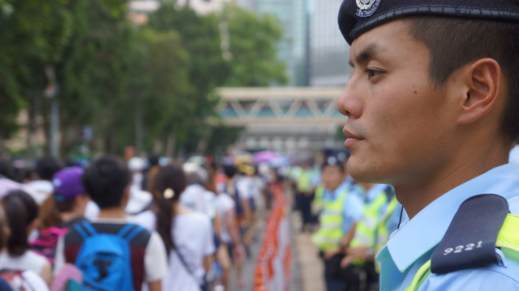 civil front police march demo protest july 1