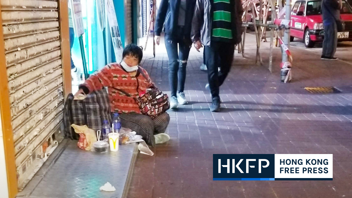Number of homeless women in Hong Kong tripled since 2014