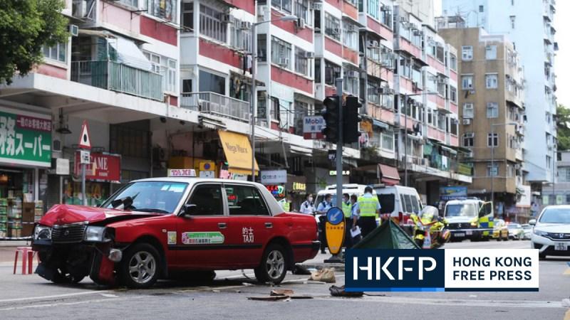 Tai Po taxi crash