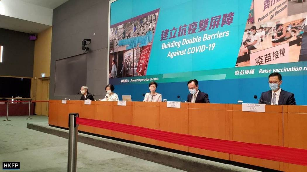 Carrie Lam Covid press conference