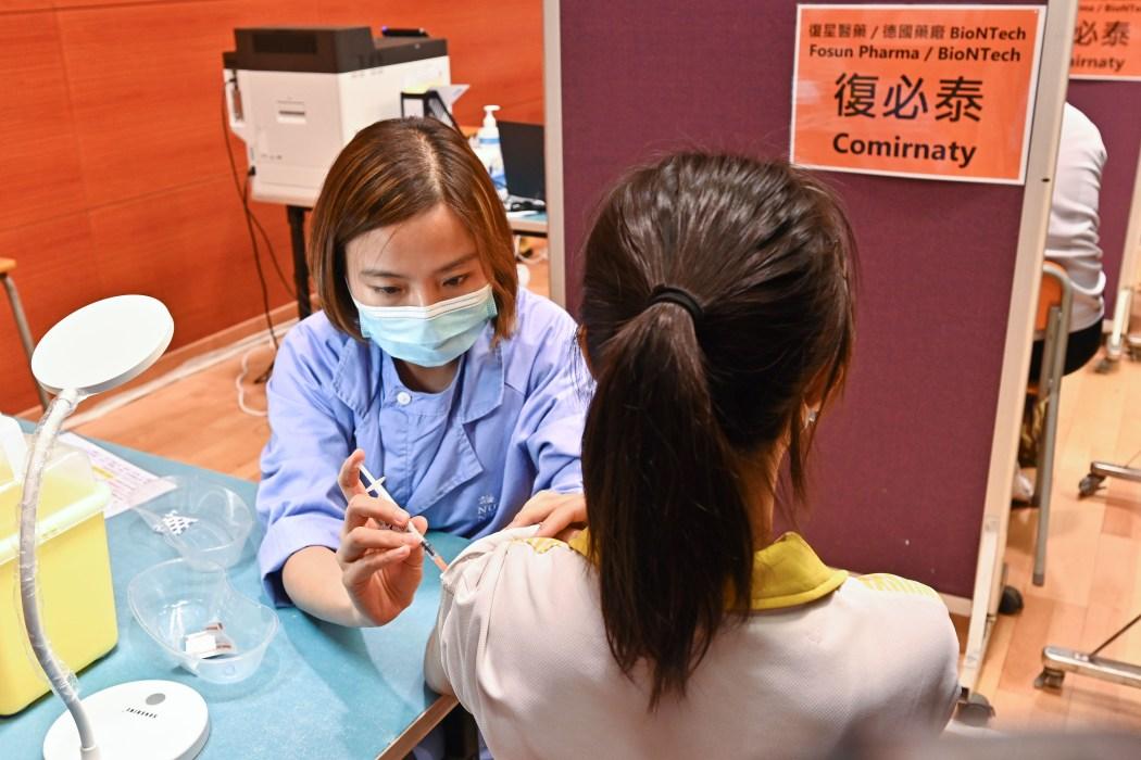 Coronavirus Covid-19 vaccine student