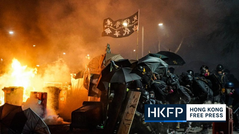 5 convicted of rioting during intense clashes with police at Chinese University of Hong Kong in 2019