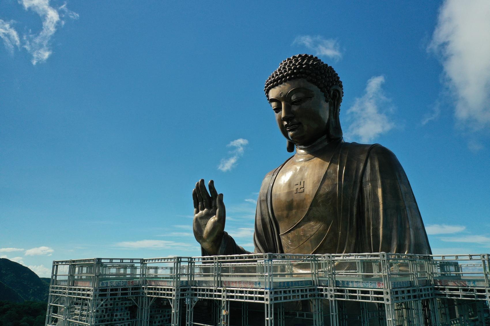 One-Po Lin Monastery Tian Tan Giant Buddha Renovation
