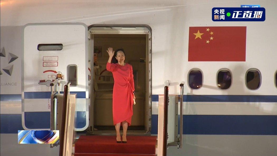 Meng wanzhou returns to china shenzhen