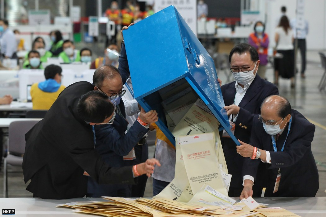 election voting voters ballot box polls election committee 2021 sept 19 erick tsang