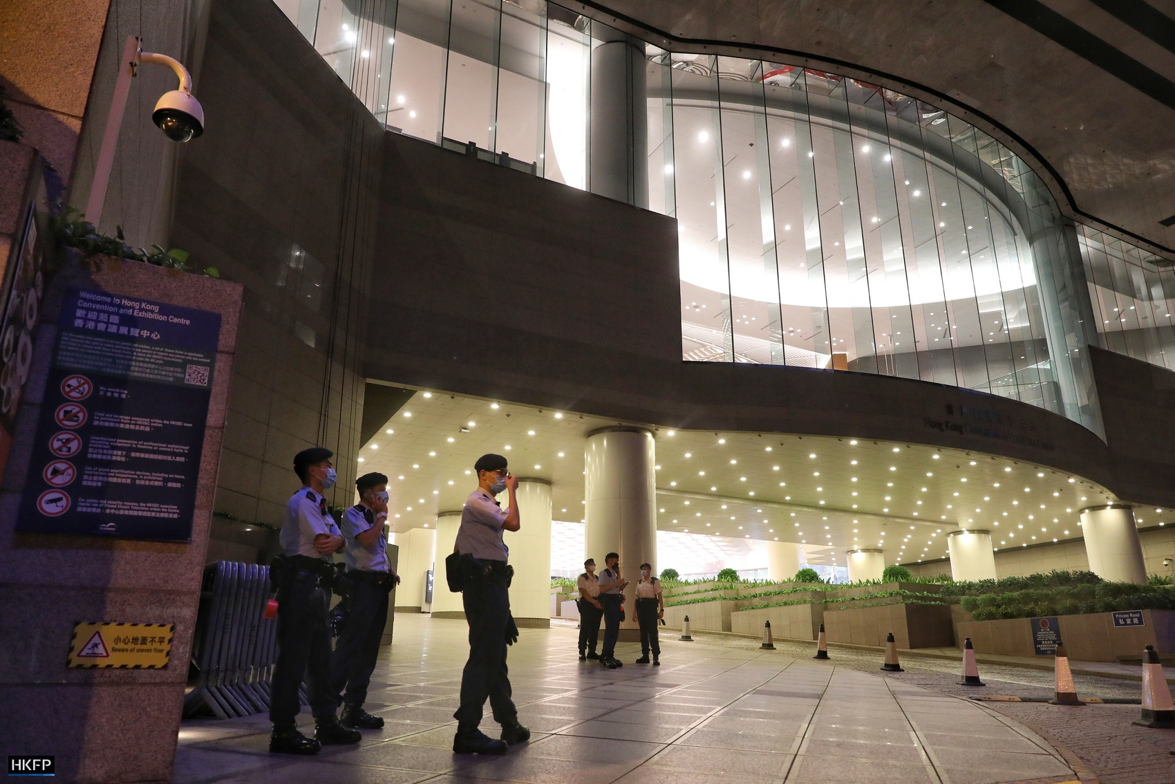 police at the wan chai convention centre election committee election