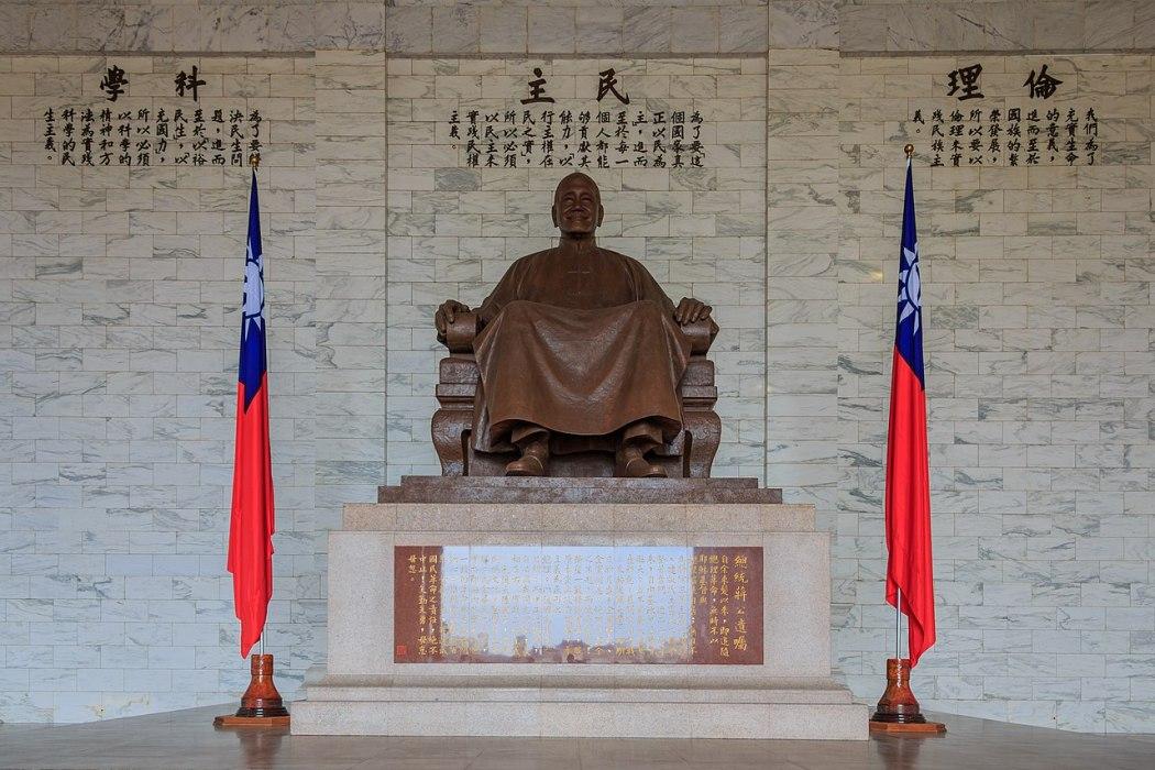 The Chiang Kai-Shek Statue in the Chiang Kai-Shek Memorial Hall