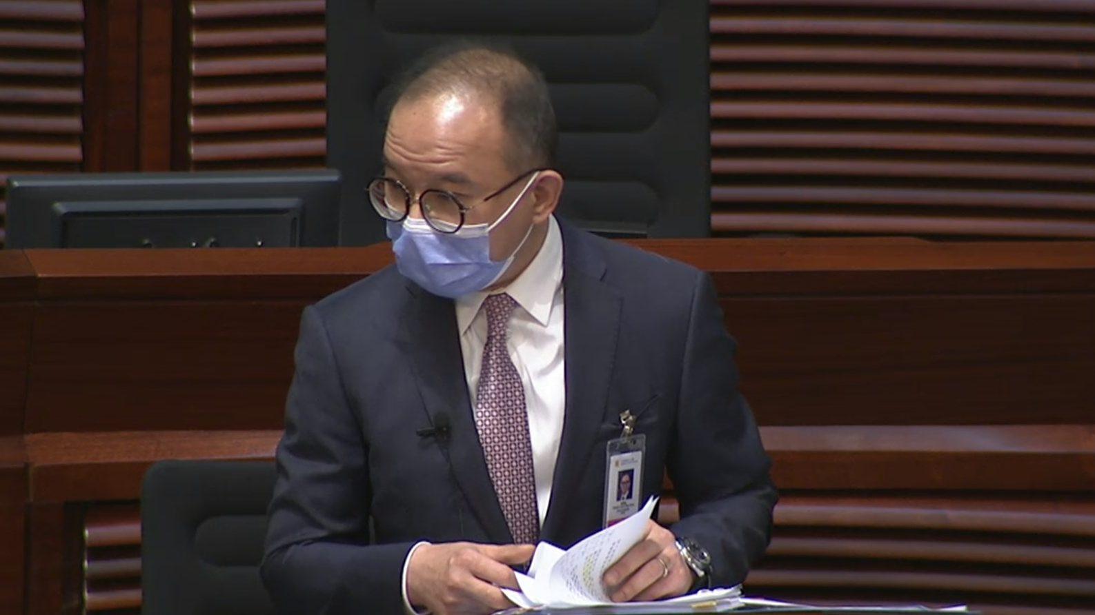 Erick Tsang secretary for constitutional and mainland affairs