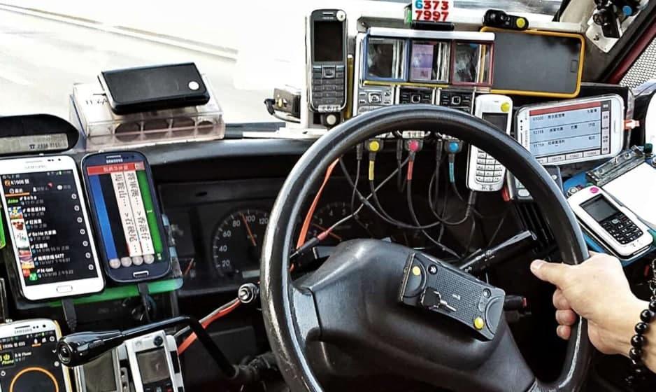 téléphones de chauffeur de taxi