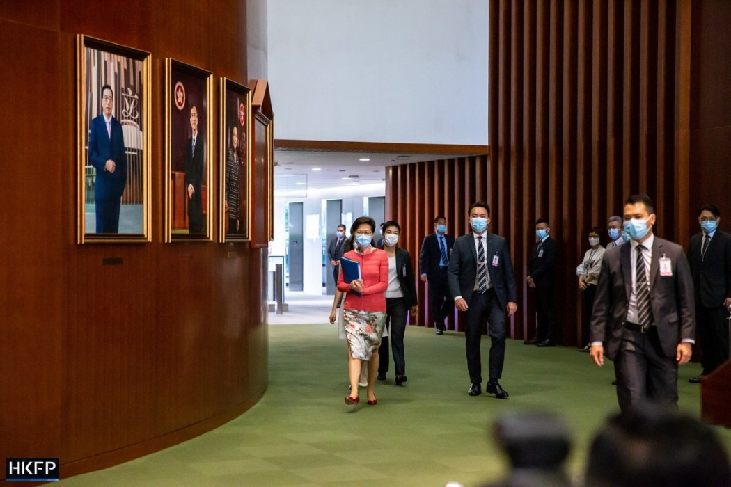 Carrie Lam Policy Address 2021 Legco Q&A