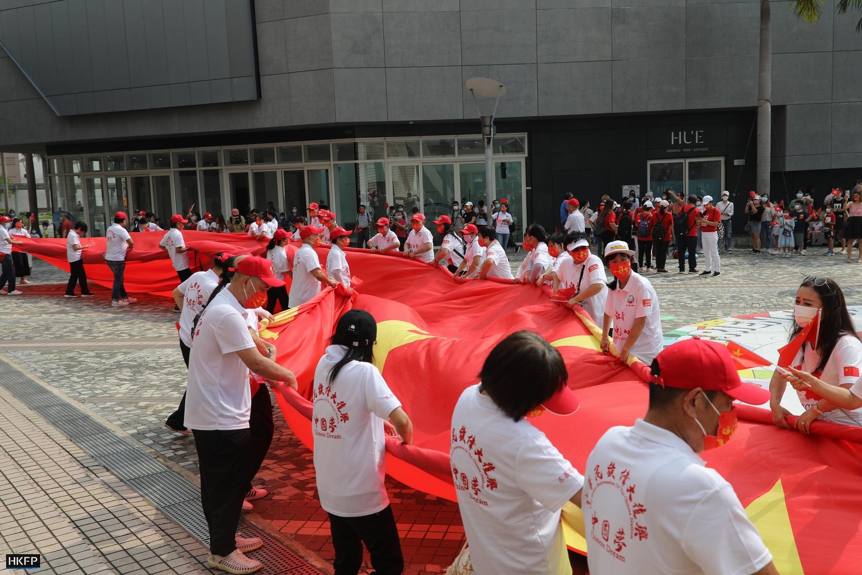 Chinese National Day Oct 1, 2021 Tsim Sha Tsui flag
