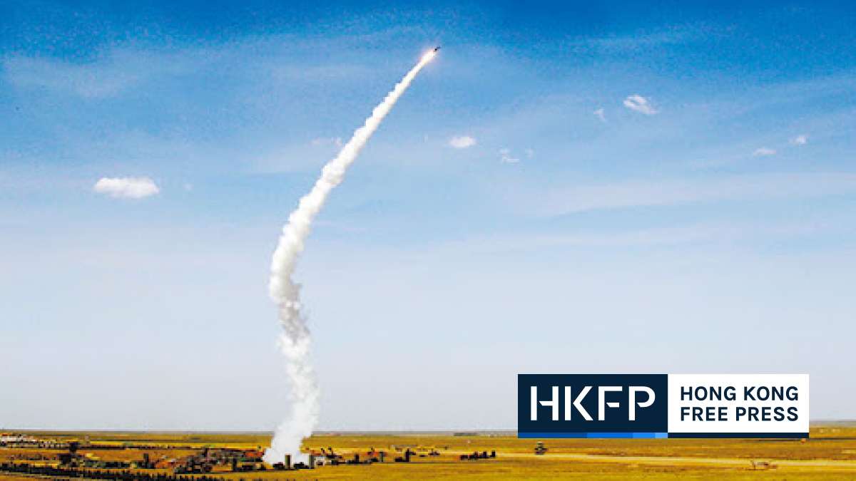 china launches hypersonic missile