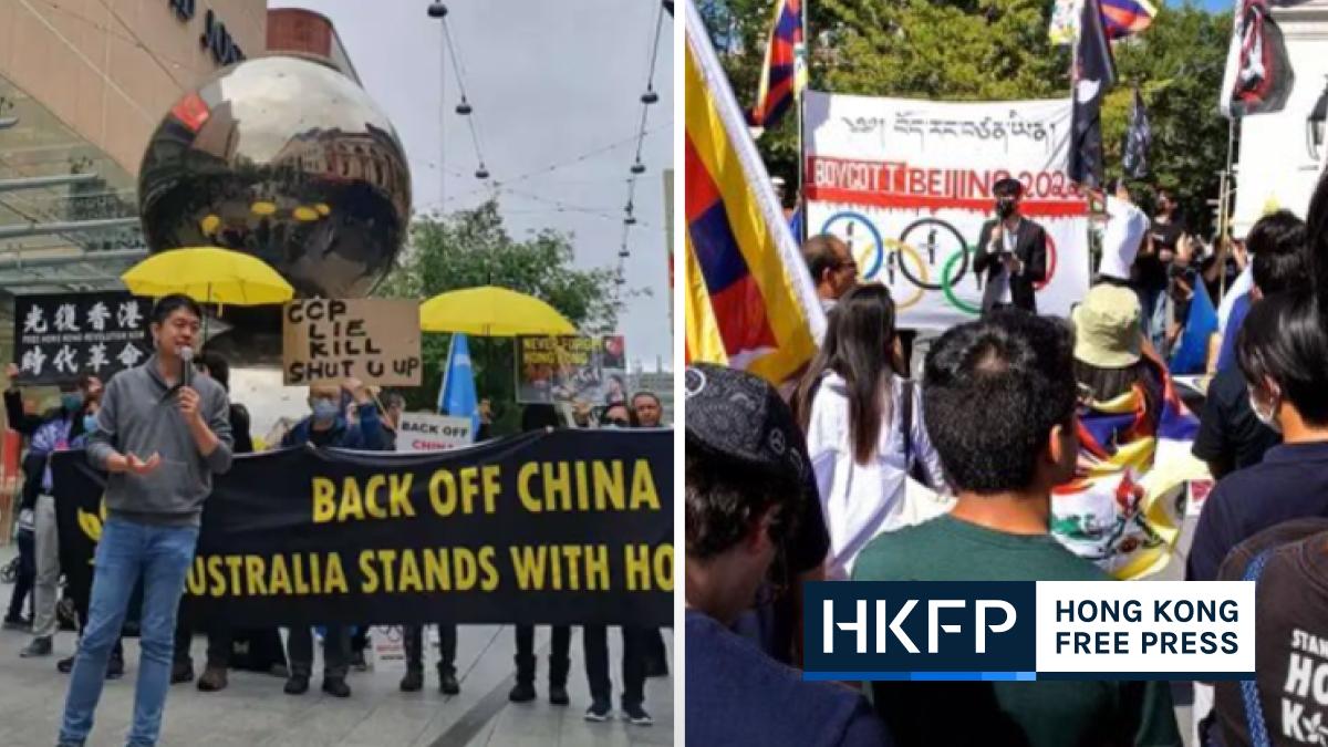 overseas china national day demo